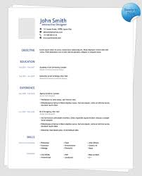 Simple One Page Resume Sample by Clean One Page Resume Template