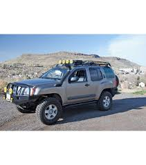 Toyota Tacoma Double Cab Roof Rack by Nissan Xterra 05 15 Ranger Rack Multi Light Setup No Sunroof