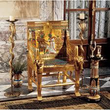 king tutankhamen u0027s egyptian throne chair home u0026 garden