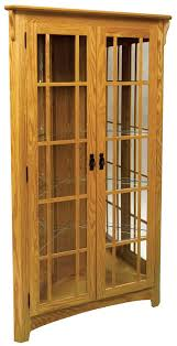 mission corner curio cabinet from dutchcrafters amish furniture