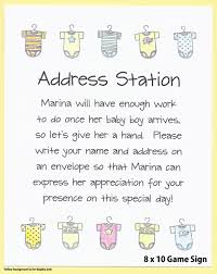 address an envelope baby shower table sign baby shower