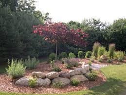 Boulder Landscaping Ideas Boulder Berm Gardening Pinterest