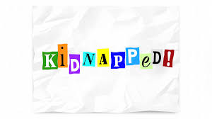 kidnapped word ransom note threat cut out letters 3d animation
