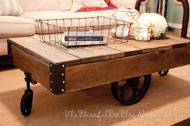 factory cart table diy restoration hardware inspired the reclaimed