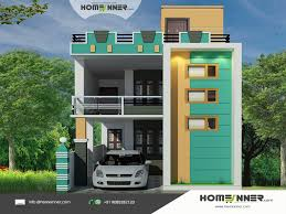 nadu style 3d house elevation design