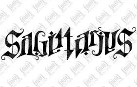 sagittarius ambigram tattoo design tattooshunt com