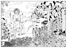 terabithia by valentin myths u0026 legends coloring pages for