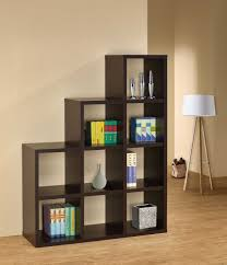 room dividers bookshelves with charming wooden graded bookcases