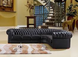 Chesterfield Corner Sofas Chesterfield Black Leather Corner Sofa Right Corner Sofa