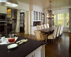 Living Room And Dining Room Combo Kitchen Adjoining Dining Room Houzz