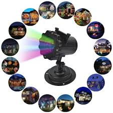 halloween christmas led lights projector outdoor decoration props