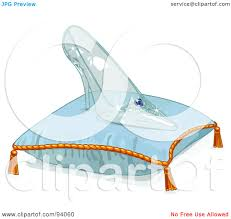 royalty free rf clipart illustration of a glass slipper on a
