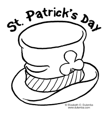 st patricks day coloring page crafts pinterest saints craft