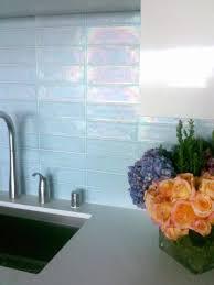 Glass Kitchen Backsplashes Kitchen Ice Glass Kitchen Backsplash White Cabinetsmahogany Table