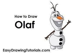 draw olaf frozen