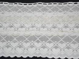 Black Lace Valance String Of Hearts Border Lace Valance Panels Wide Vintage Curtain