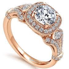 gabriel halo engagement ring