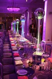 Disco Party Centerpieces Ideas by Lighted Acrylic Tower With Mirror Ball Might Be Neat For One Of