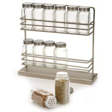 amazon com rsvp stainless steel two tier spice rack with 12