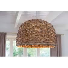 Woven Pendant Light Design Ideas Woven Basket Pendant Light Modest Dome Shaped