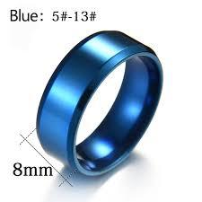 blue steel rings images High quality titanium stainless steel rings black for men gold jpg