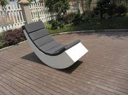 Resin Wicker Rocking Chair Leisure Fashion White Poly Rattan Resin Wicker Rocking Chair