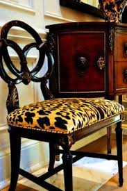 Leopard Armchair Leopard Print And Gilt Trim Louis Empire Styled Tub Seat That
