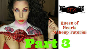 queen of hearts makeup tutorial sfx body paint alice in