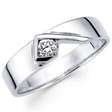 wedding rings designs for men 5 5mm 14k white gold modern designer solitaire diamond wedding