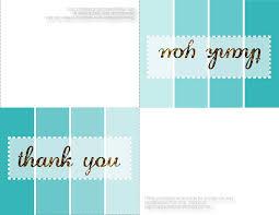 printable thank you card template infocard co
