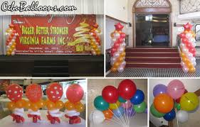 balloon decoration set for virginia farms inc christmas party