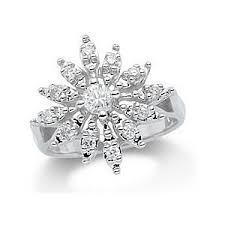 snowflake engagement ring snowflake diamond ring polyvore