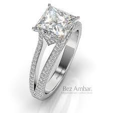 unique princess cut engagement rings lutes engagement ring with shape