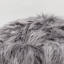 icelandic grey sheepskin sheep skin wool fur shaggy long hair bean