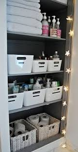 Bathroom Closet Storage Ideas 90 Best Linen Storage Images On Pinterest Bathroom Bathrooms