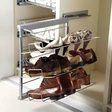 Shoe Rack For Closet Door Sliding Shoe Rack Galettedesrois Info