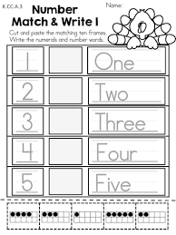 number match write part of the thanksgiving kindergarten math