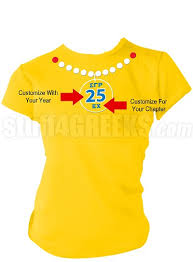 necklace shirt images Sigma gamma rho pearl necklace screen printed anniversary t shirt jpg&a