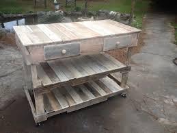 pallet kitchen island rustic wooden pallet island with built in shelves jpg 960 720