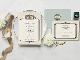 art deco wedding invitations by gogosnap