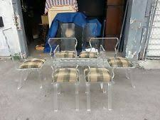 Lucite Dining Room Chairs Lucite Dining Table Ebay