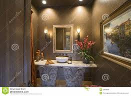 Bathroom Vanity Houzz by Sconces And Mirror Over Bathroom Sink Stock Photos Image 33909583