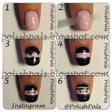 polish pals ninja nails hi ya u0026 tutorial