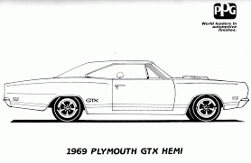 Dodge Challenger 1969 - 12 pics of 1969 dodge challenger coloring page dodge challenger