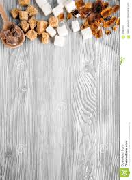 Wooden Kitchen Table Background Lumps Of Sugar For Sweets On Gray Kitchen Table Background Top
