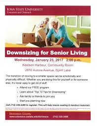 tips for downsizing downsizing for senior living program u2013 okoboji chamber