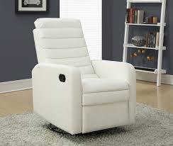 rocker recliner swivel chair furniture contemporary white leather swivel glider recliner decor
