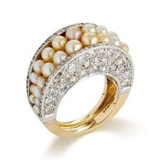best pearl rings images Pearl rings with diamonds zalesjared co jpg