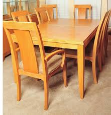 blonde ethan allen dining table and chairs ebth