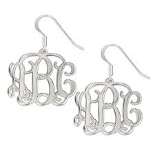 monogram earrings monogram earrings